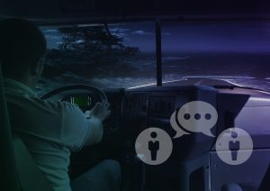 communication with a driver